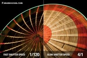 تفاوت سرعت شاتر در -دوربین مدار بسته