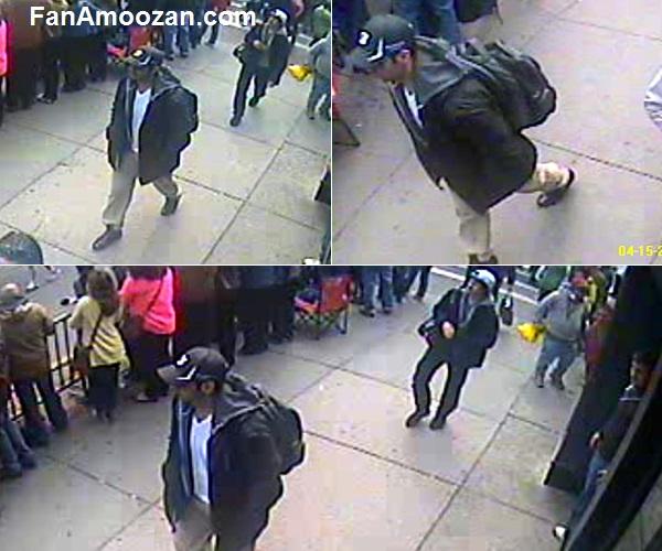 تصاویر دوربین های مداربسته از مظنونین بمب گذاری بوستون