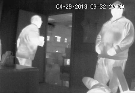 دوربین مداربسته دید در شب حرارتی و تصویر اخذ شده