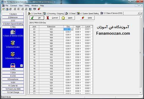 تنظیمات TRS سانترال با کامپیوتر