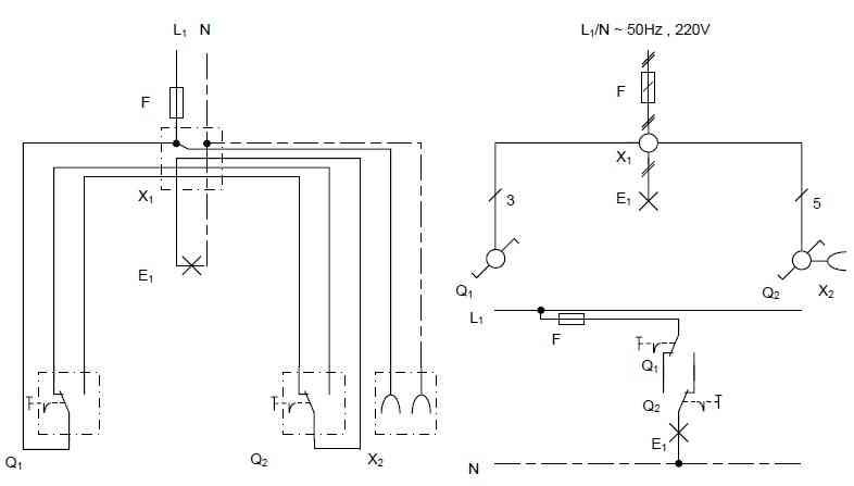 مدار الکتریکی کلید تبدیل