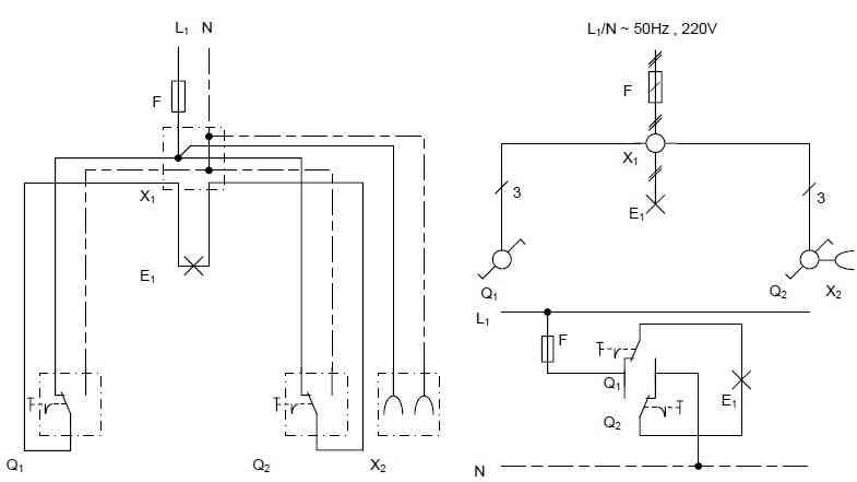 مدار الکتریکی کلید تبدیل صرفه ای