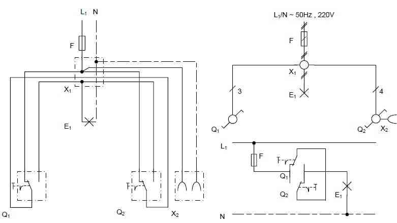 مدار الکتریکی کلید تبدیل هامبورگی