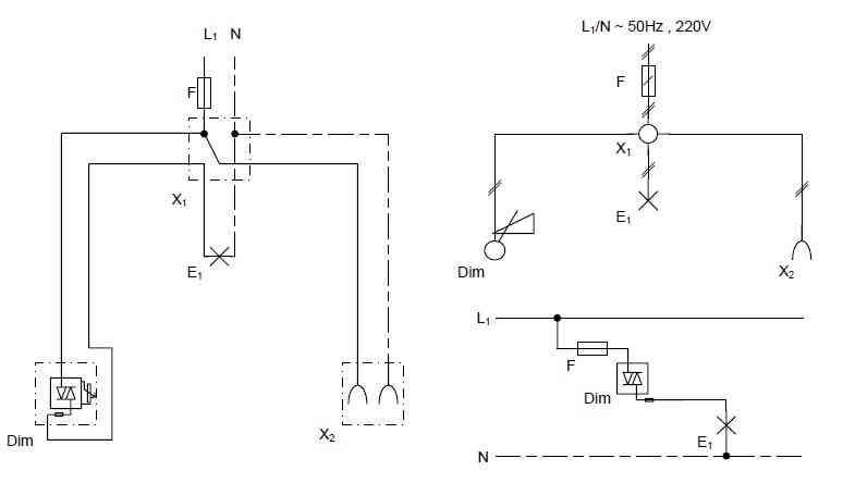 مدار الکترکی دیمر