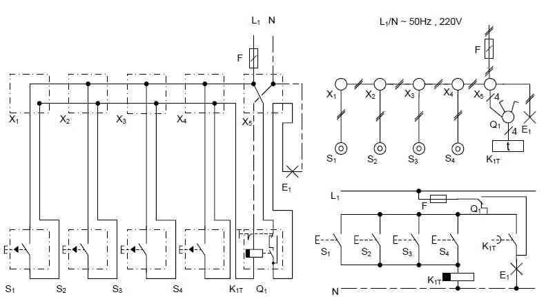مدار الکتریکی رله زمانی