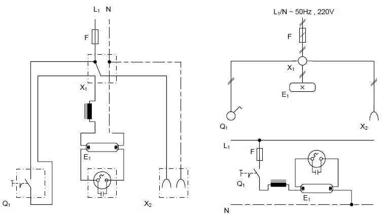 مدار الکتریکی لامپ مهتابی