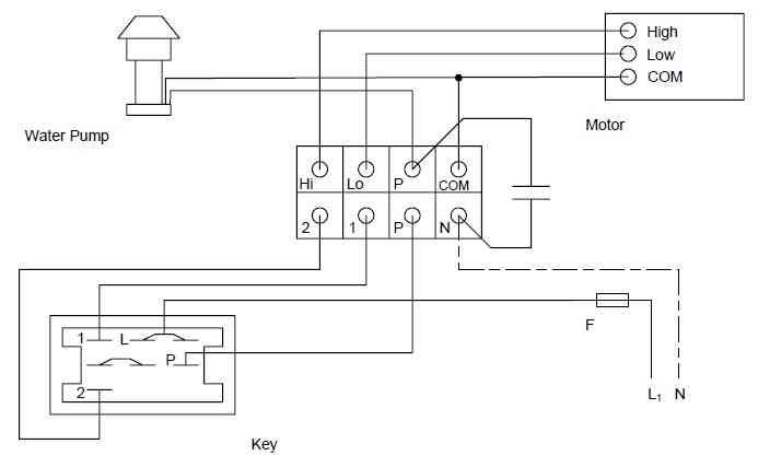 مدار الکتریکی کولر آبی