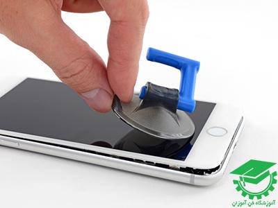 نحوه باز و بسته کردن گوشی موبایل مدل iPhone 8 plus