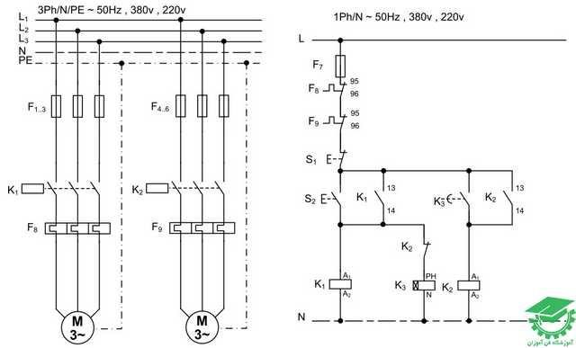 راه اندازی دو موتور به صورت یکی پس از دیگری،اتوماتیک