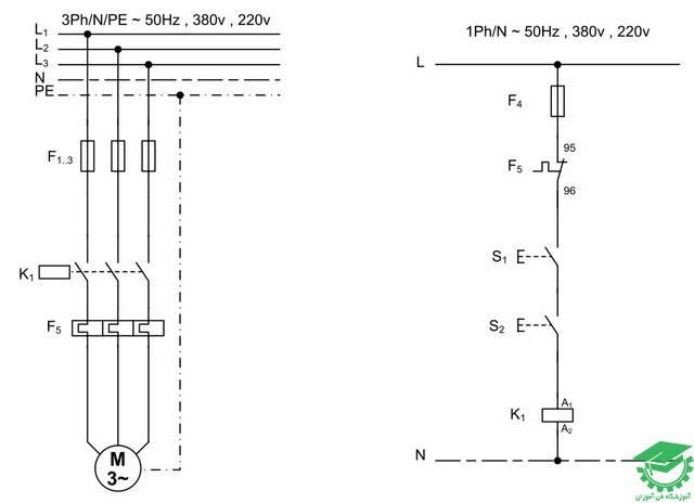 راه اندازی موتور آسنکرون دستگاه های پرس و گیوتین