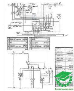 نقشه سیم کشی لباسشویی آزمایش مدل 2001