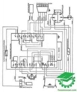 نقشه سیم کشی لباسشویی آ.ا.ک مدل 400F
