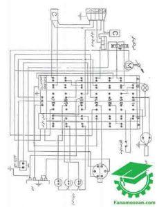نقشه سیم کشی لباسشویی آ.ا.ک