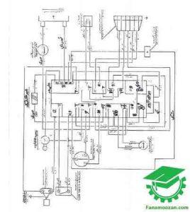نقشه سیم کشی لباسشویی ارج و کلویناتور مدل 541133500