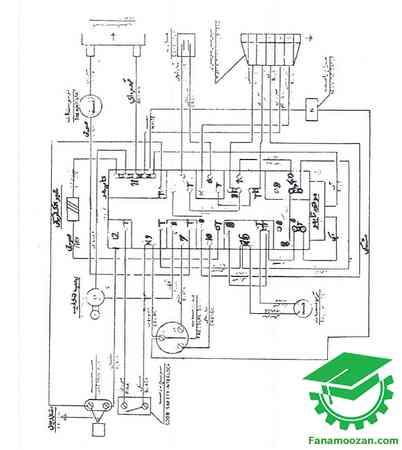 دیاگرام سیم بندی لباسشویی ارج و کلویناتور مدل 541133500