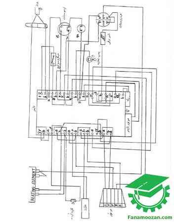 دیاگرام سیم بندی لباسشویی الکترولوکس مدل WH-37