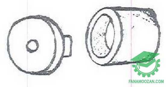 پایه چینی نر و ماده بخاری