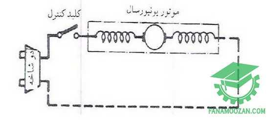 مدار الکتریکی مخلوط کن با موتور یونیورسال