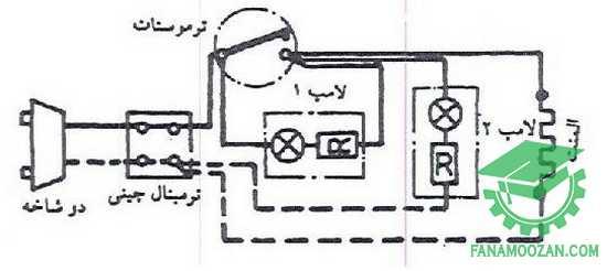 مدار الکتریکی پلوپز با ترموستات بی متالی
