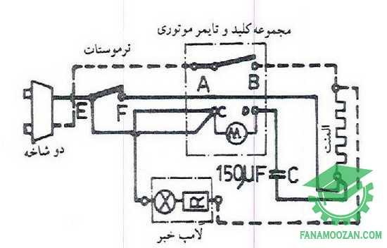 مدار الکتریکی پلوپز با تایمر موتوری