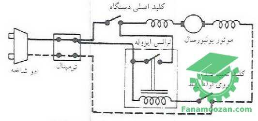 مدار الکتریکی جاروبرقی با ترانس ایزوله