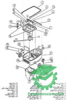قطعات مکانیکی جاروبرقی
