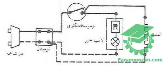 مدار الکتریکی آبگرمکن برقی