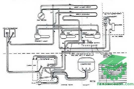 دیاگرام سیم بندی یخچال و ستینگهاوس (ویترنی) مدل W-199-SA