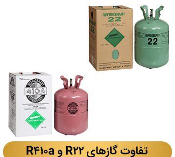 خنک کننده های کولر گازی با گاز R22 و R410a