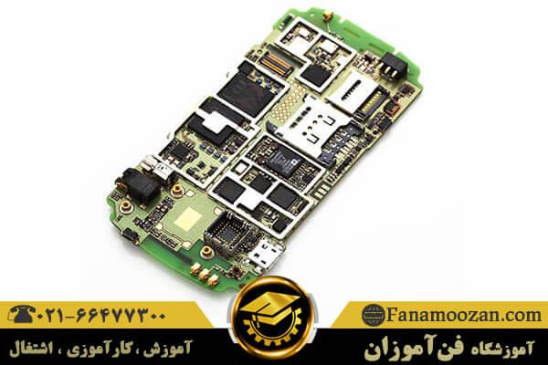 قطعات روی برد موبایل