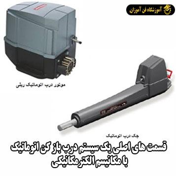 قسمت های اصلی یک سیستم درب باز کن اتوماتیک با مکانیسم الکترمکانیکی
