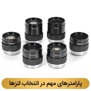 پارامترهای مهم در انتخاب لنزها در دوربین مداربسته