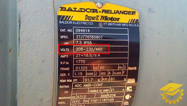 پلاک خوانی ولتاژ موتور