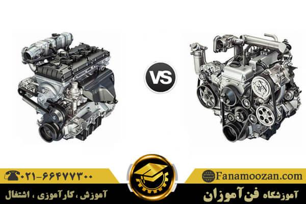 مقایسه موتور دیزلی و بنزینی